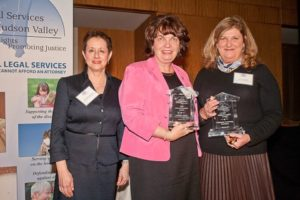 Photo Caption (From Left to Right): Barbara Finkelstein, CEO, Legal Services; Catherine Marsh, Executive Director at the Westchester Community Foundation; Denise Farrell, Westchester Community Foundation Vice Chair.