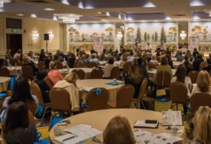 "200 current and returning professional women attended the ""Make Work Fit Life"" event on May 12th at the Stamford, CT Marriott to start a new conversation about the link between flexible work and long-term financial security. Photo Credit: Margaret Fox"