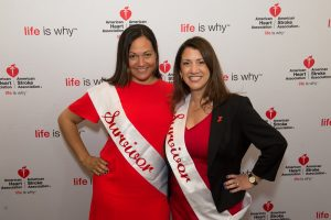 Heart disease survivors Christine Wayne and Kim Salveggi shared their stories at the Go Red For Women Luncheon on June 2nd at the Hilton Westchester.