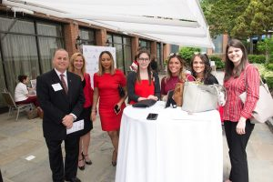 Guests enjoying the VIP party with Keynote Speaker and ABC News Reporter, Mara Schiavocampo at the Go Red For Women Luncheon on June 2nd at the Hilton Westchester.