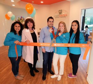 Administrative Assistant, Raisa Moya; President and CEO Orange County Chamber of Commerce, Jane Allen Cione; Dr. Ali Payami; Owner, Dr. Jennifer Blair-Payami; Dental Assistant, Estela Vazquez