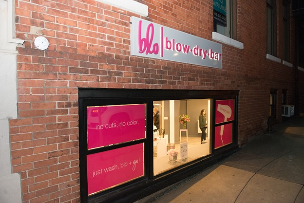 Exterior of Blo Blow Dry Bar in Greenwich, CT
