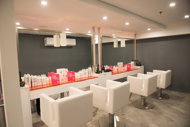 Styling chairs at Blo Blow Dry Bar in Greenwich, CT