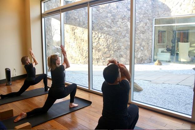 Yoga room at Sankara Spa at Castle Hotel and Spa in Tarrytown, NY