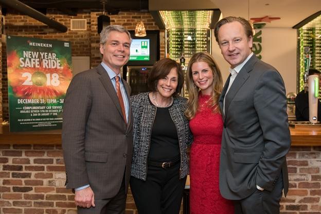 White Plains Mayor Tom Roach; Carole Sears; Tara Rush and Ronald den Elzen