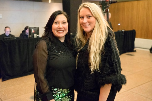 """Kathleen LaMattina, Collections Manager of Special Animal Exhibits, at the Bronx Zoo, with Dr. Marie O'Connor, President of Nordic Edge, celebrating at the second season premiere party for """"The Zoo"""" at the Bronx Zoo."""