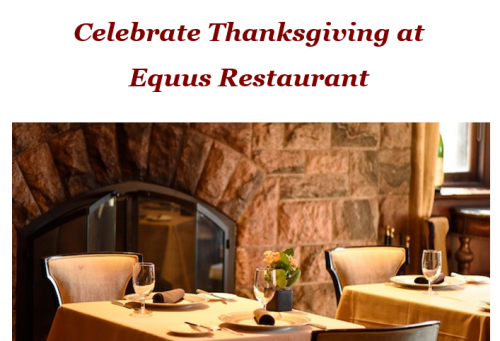 Celebrate Thanksgiving 2018 at Castle Hotel & Spa